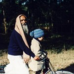 Swamiji & Jarrett on a Bike