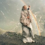 Swamiji Points to a Rainbow